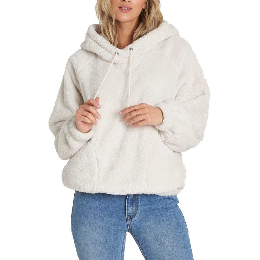 ビラボン Billabong レディース フリース トップス【Warm Regards Sherpa Pullover Hoodie】White Cap