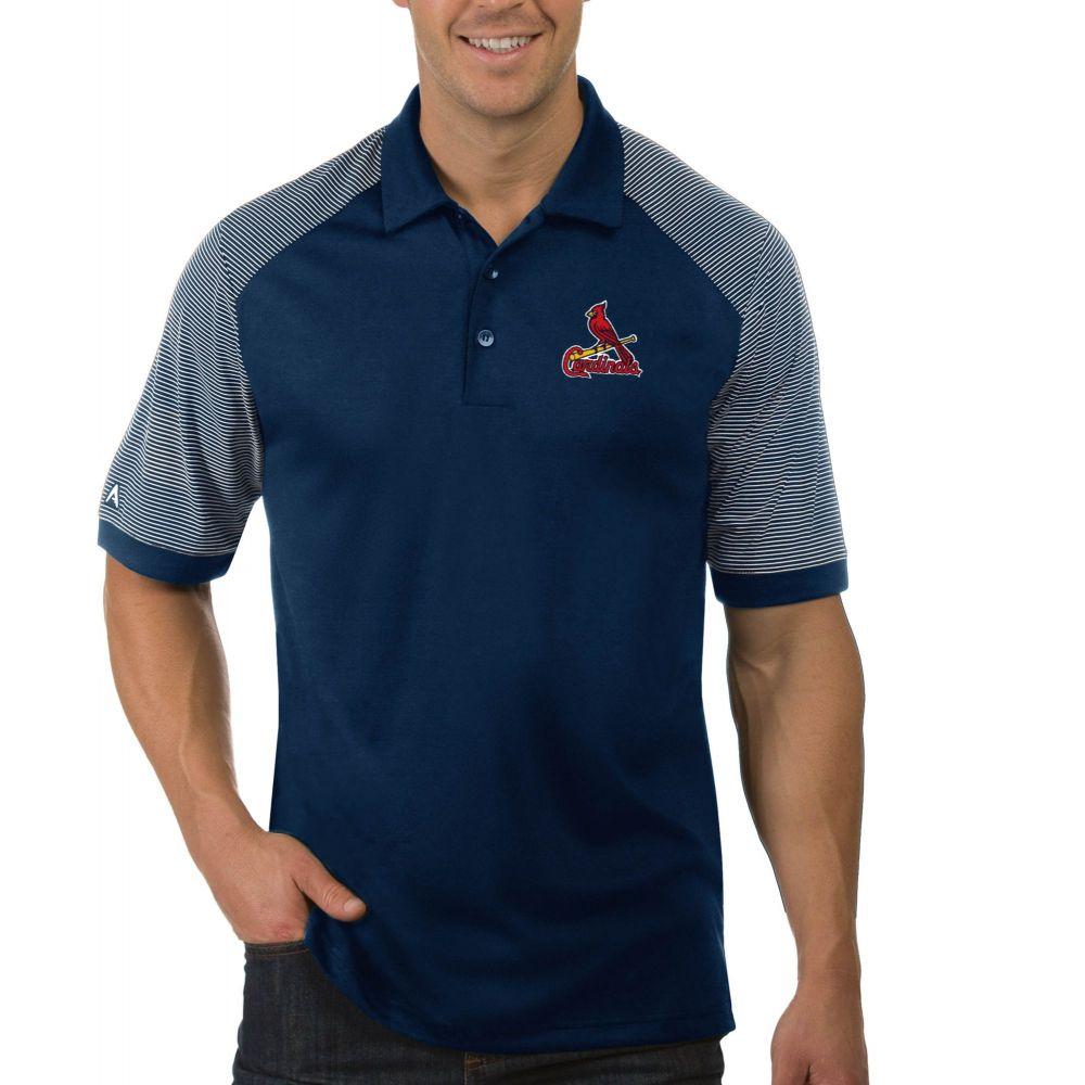 アンティグア Antigua メンズ ポロシャツ トップス【St. Louis Cardinals Engage Navy Polo】