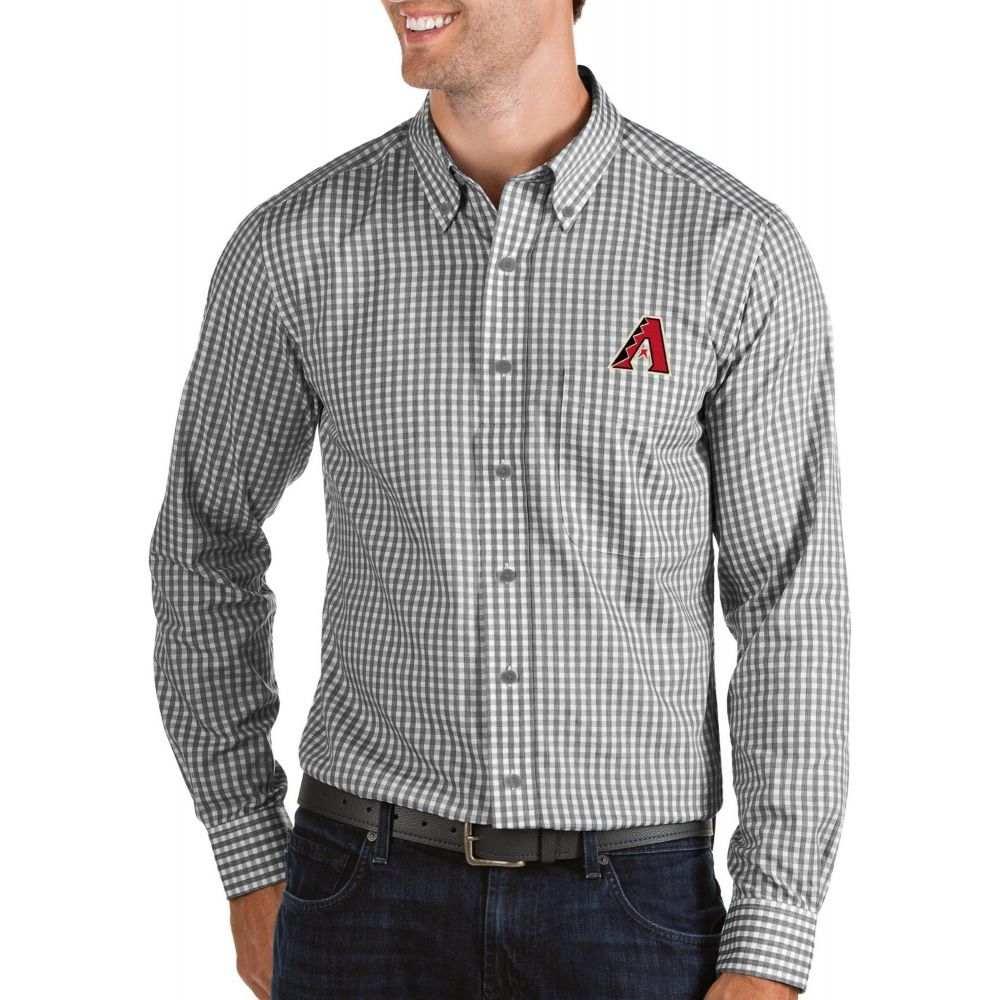 アンティグア Antigua メンズ シャツ トップス【Arizona Diamondbacks Structure Button-Up Black Long Sleeve Shirt】