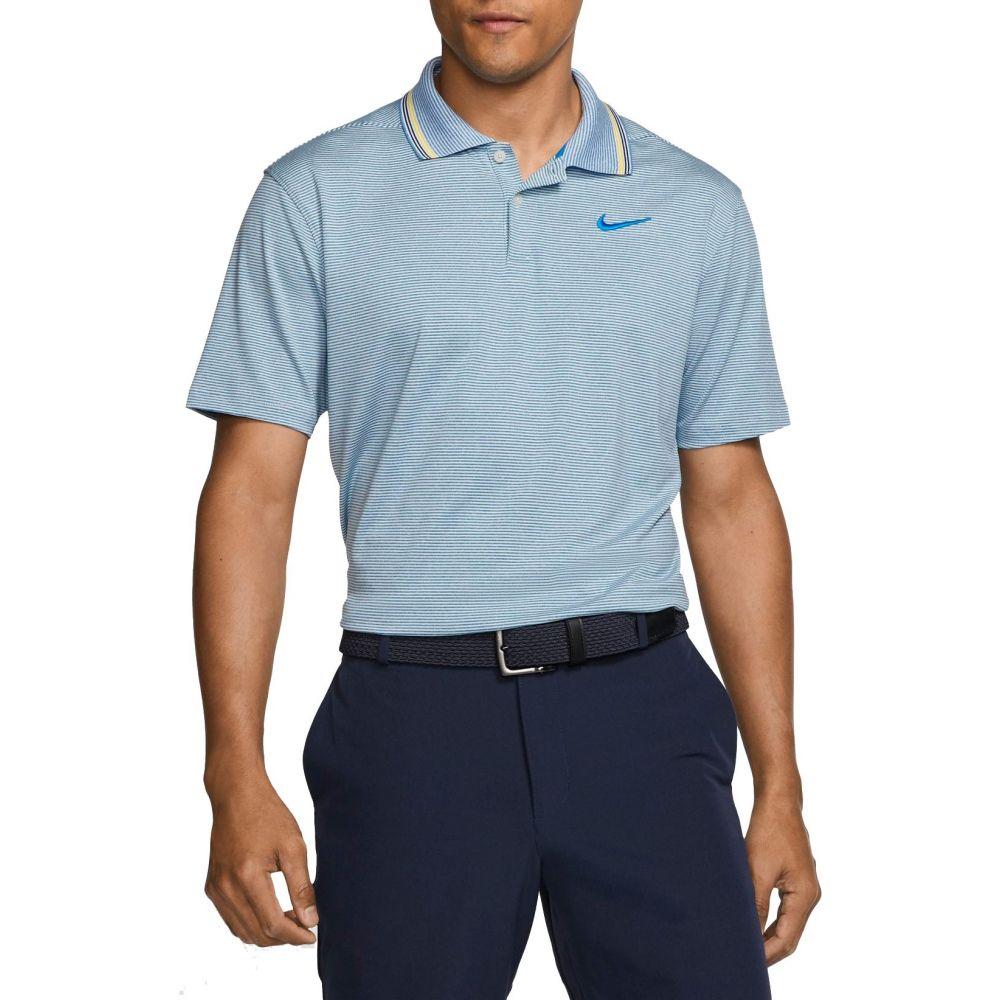 ナイキ Nike メンズ ゴルフ ポロシャツ トップス【Vapor Control Stripe Golf Polo】Photo Blue/Pure