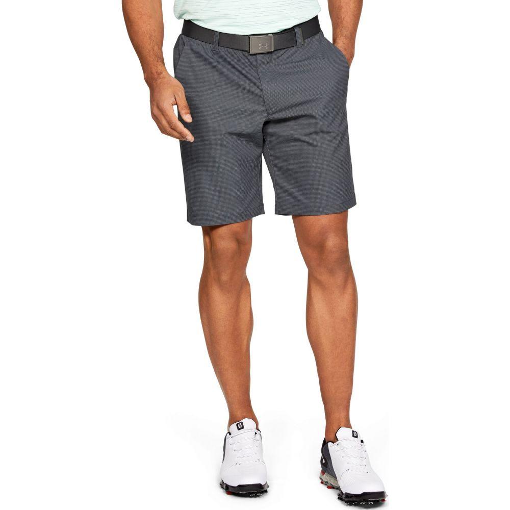 アンダーアーマー メンズ ゴルフ ボトムス・パンツ 【サイズ交換無料】 アンダーアーマー Under Armour メンズ ゴルフ ショートパンツ ボトムス・パンツ【Showdown Novelty Golf Shorts】Pitch Gray
