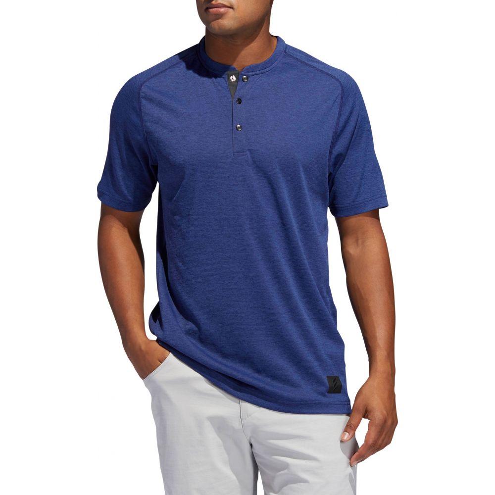 アディダス adidas メンズ ゴルフ ヘンリーシャツ トップス【Adicross Transition Henley Golf Shirt】Dark Blue