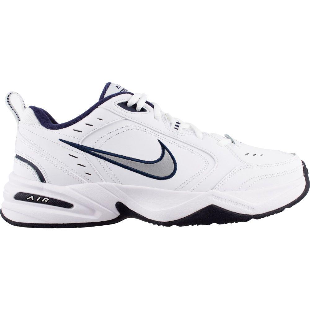 ナイキ Nike メンズ フィットネス・トレーニング シューズ・靴【Air Monarch IV Training Shoe】White/Mtllc Slvr/Mid Navy