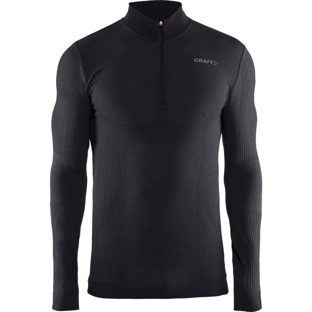 クラフト Craft メンズ トップス 【Wool Comfort Half Zip Mockneck Long Sleeve Shirt】Black