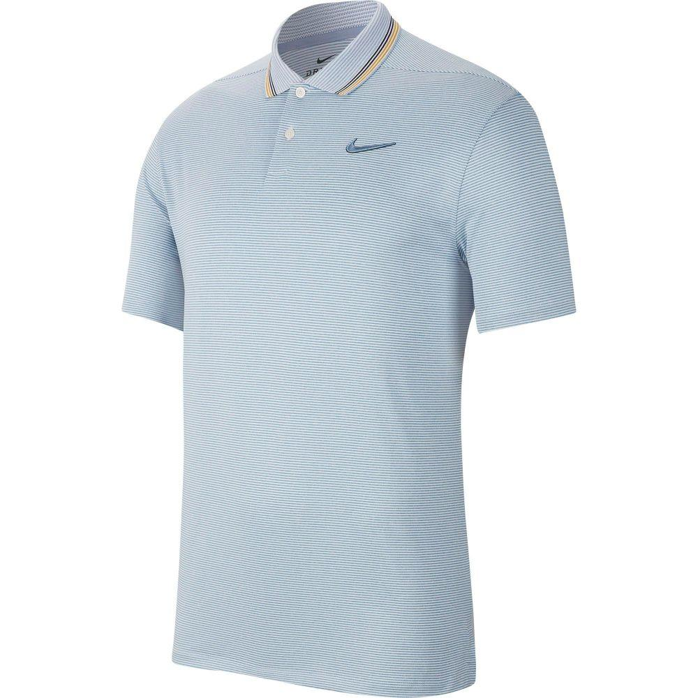 ナイキ Nike メンズ ゴルフ ポロシャツ トップス【Vapor Control Stripe Golf Polo】Indigo Fog