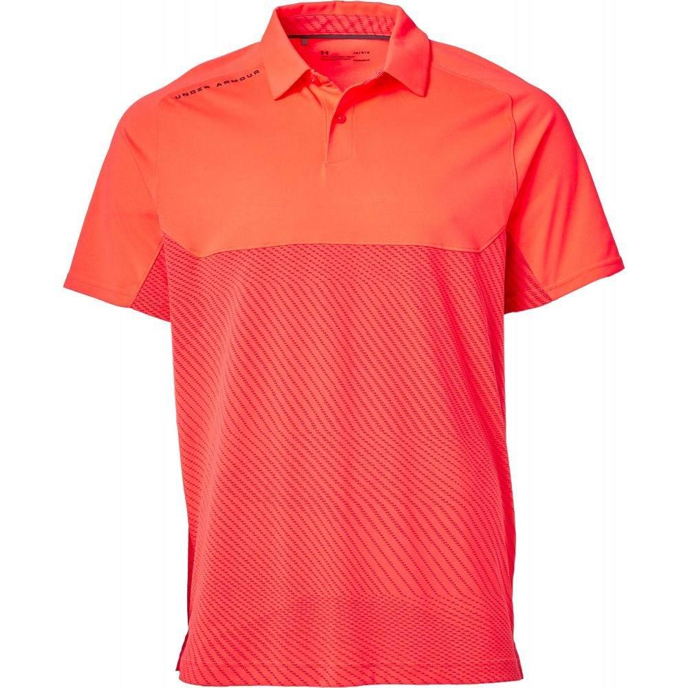アンダーアーマー Under Armour メンズ ゴルフ ポロシャツ トップス【Tour Tips Blocked Golf Polo】Beta Red/Pitch Gray
