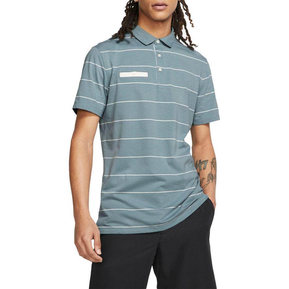 ナイキ Nike メンズ ゴルフ ポロシャツ トップス【Stripe Player Golf Polo】Aviator グレー/Sail