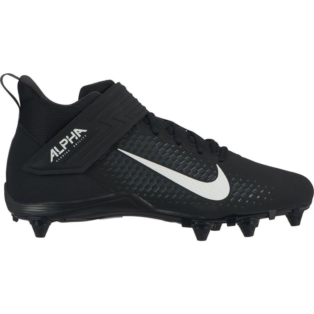 ナイキ Nike メンズ アメリカンフットボール スパイク シューズ・靴【Alpha Menace Varsity 2 D Mid Football Cleats】Black/White