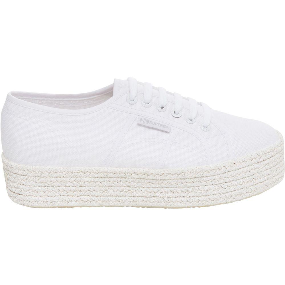 スペルガ Superga レディース スニーカー シューズ・靴【2790 COTCOLOROPEW Platform Shoes】White/White