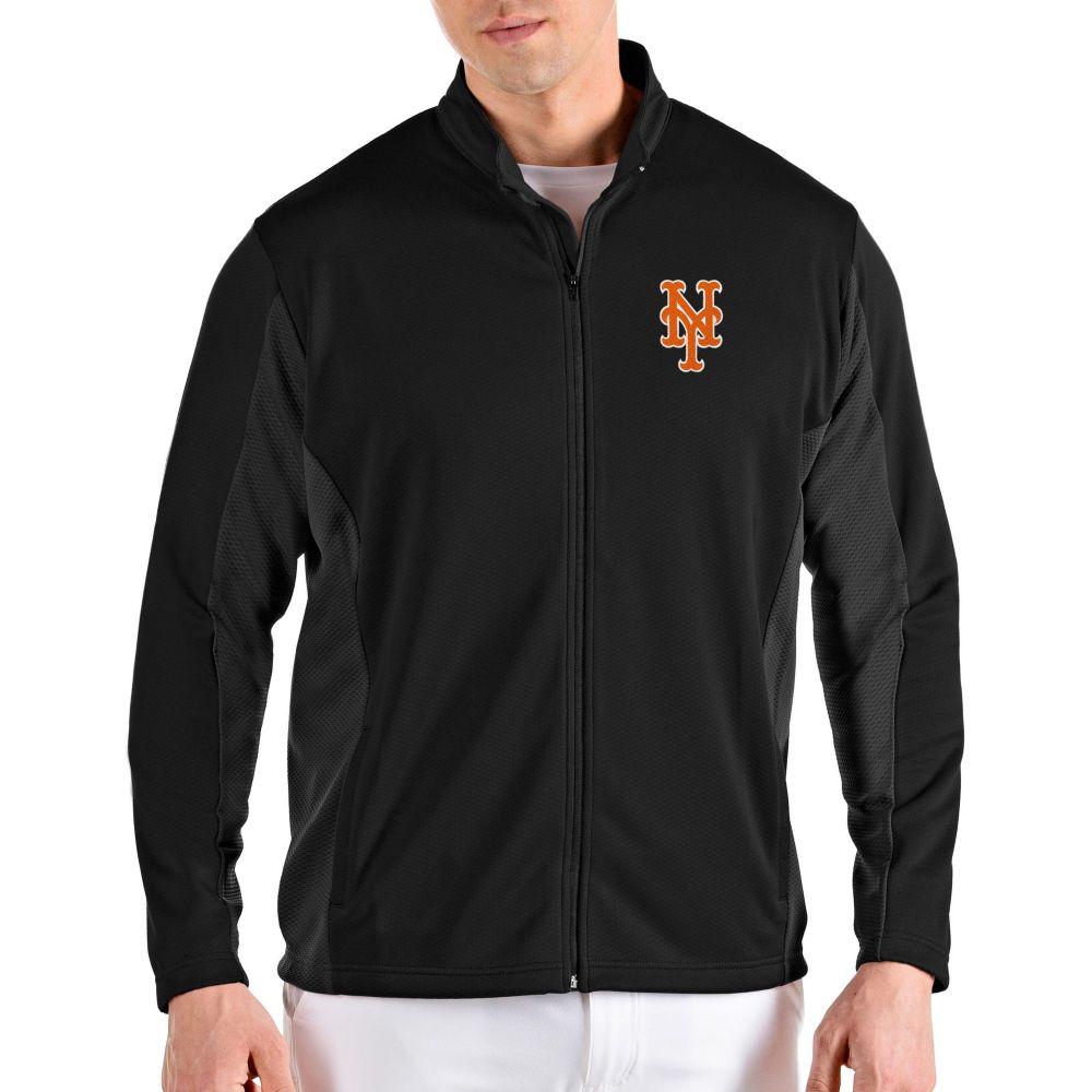アンティグア Antigua メンズ ジャケット アウター【New York Mets Black Passage Full-Zip Jacket】