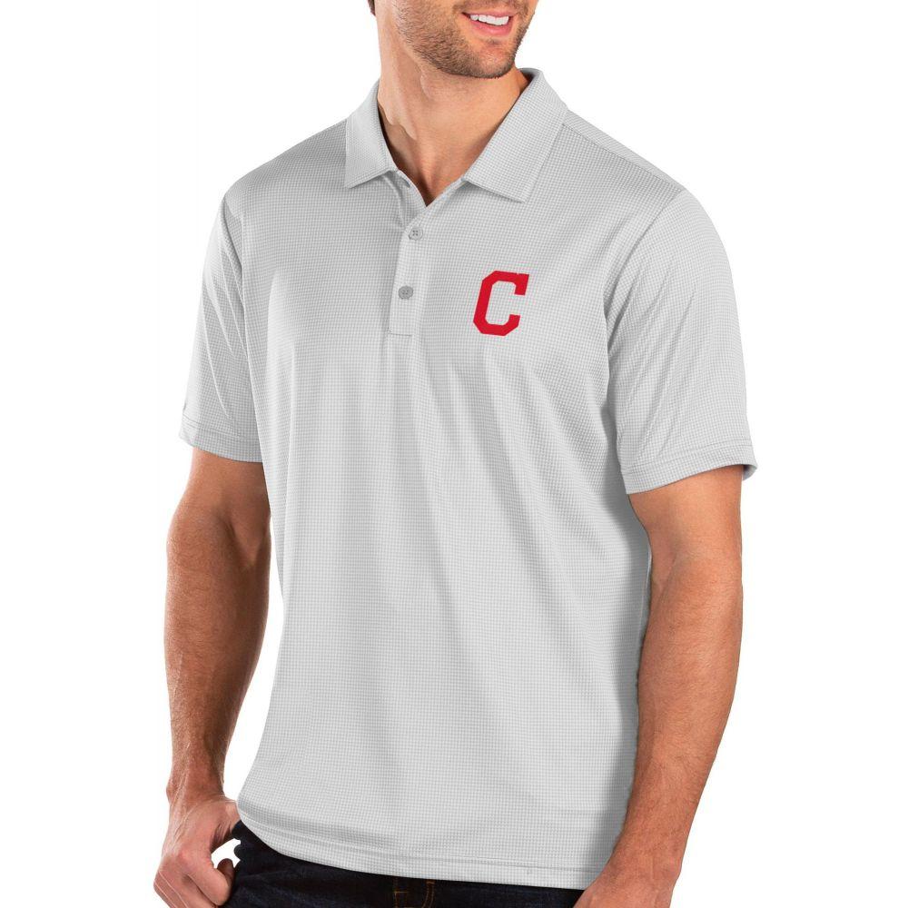 アンティグア Antigua メンズ ポロシャツ トップス【Cleveland Indians White Balance Polo】