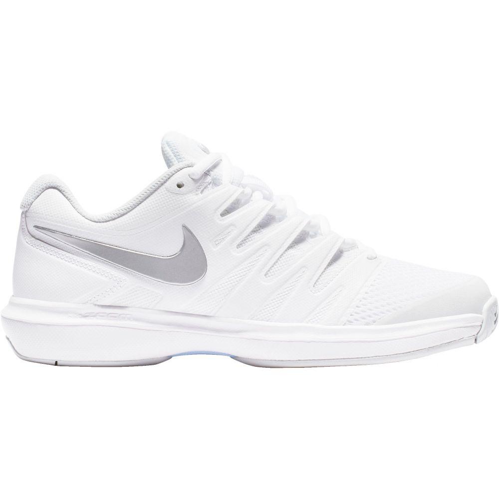 ナイキ レディース テニス シューズ・靴 【サイズ交換無料】 ナイキ Nike レディース テニス エアズーム シューズ・靴【Air Zoom Prestige Tennis Shoes】White/Silver