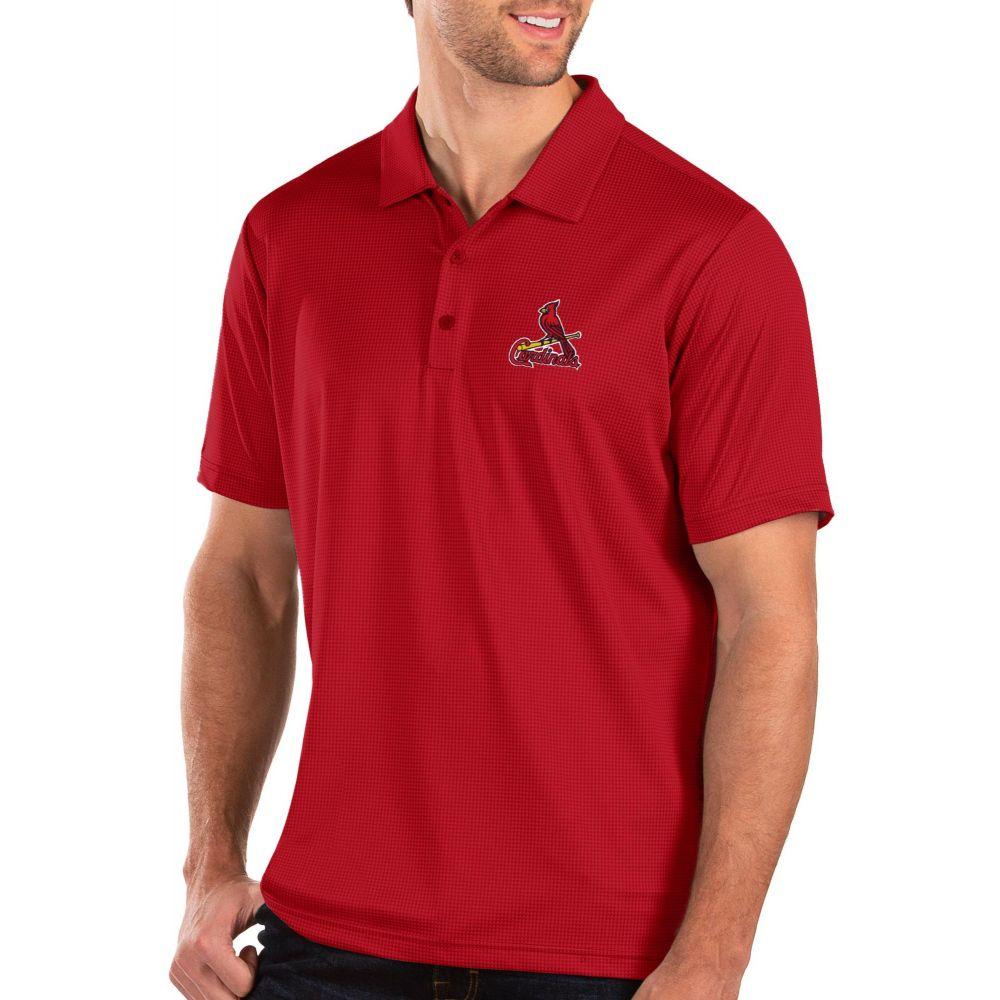 アンティグア Antigua メンズ ポロシャツ トップス【St. Louis Cardinals Red Balance Polo】