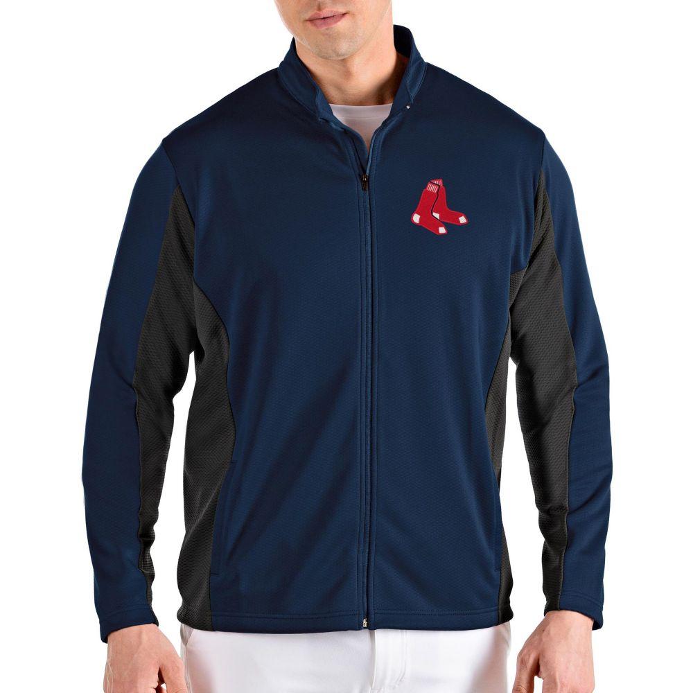 アンティグア Antigua メンズ ジャケット アウター【Boston Red Sox Navy Passage Full-Zip Jacket】