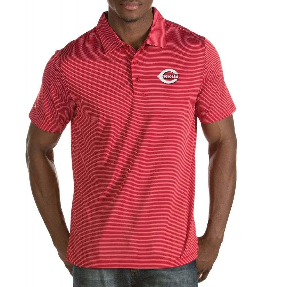 アンティグア Antigua メンズ ポロシャツ トップス【Cincinnati Reds Quest Red Performance Polo】