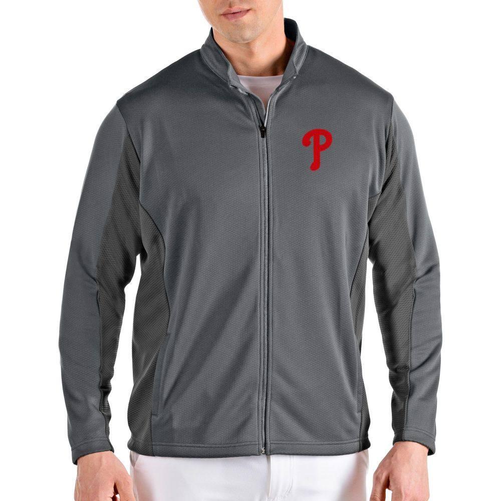 アンティグア Antigua メンズ ジャケット アウター【Philadelphia Phillies Grey Passage Full-Zip Jacket】