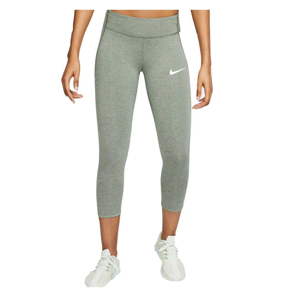 ナイキ Nike レディース ランニング・ウォーキング スパッツ・レギンス ボトムス・パンツ【Epic Lux Running Cropped Leggings】Juniper Fog/Jade Stone