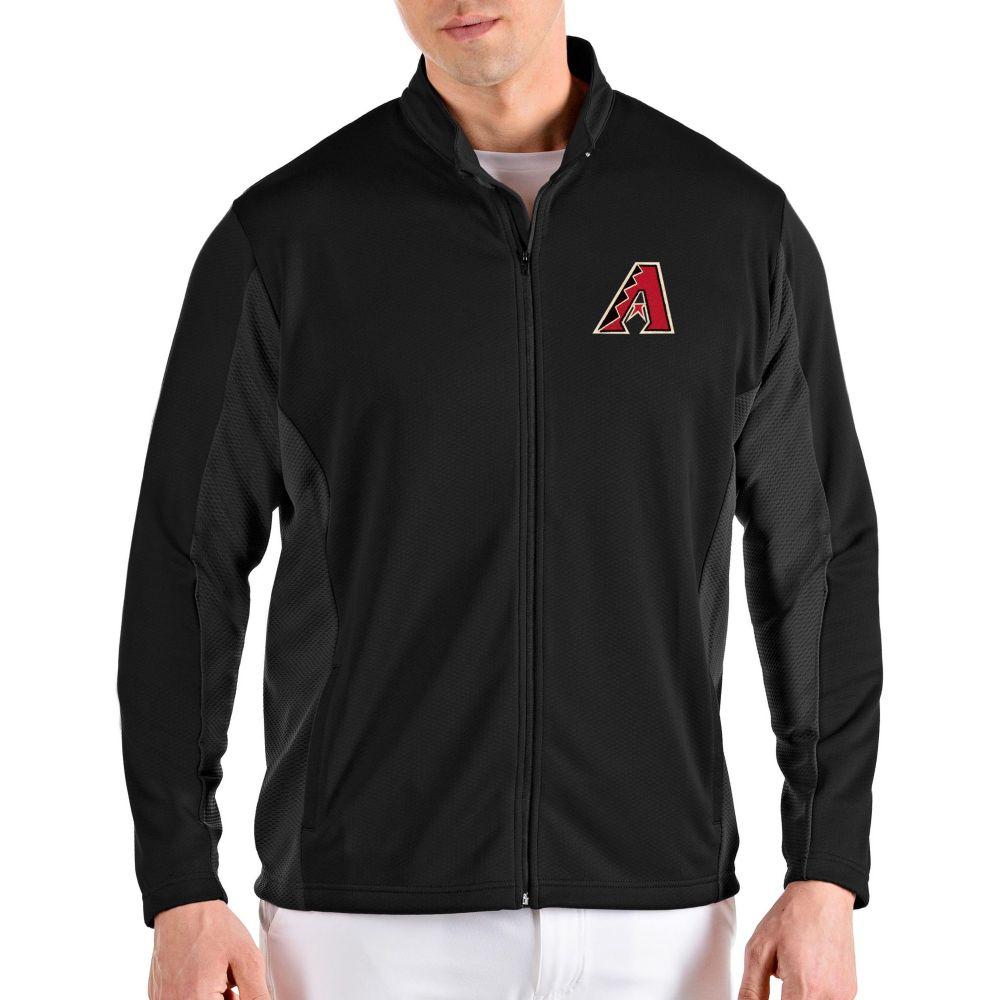 アンティグア Antigua メンズ ジャケット アウター【Arizona Diamondbacks Black Passage Full-Zip Jacket】