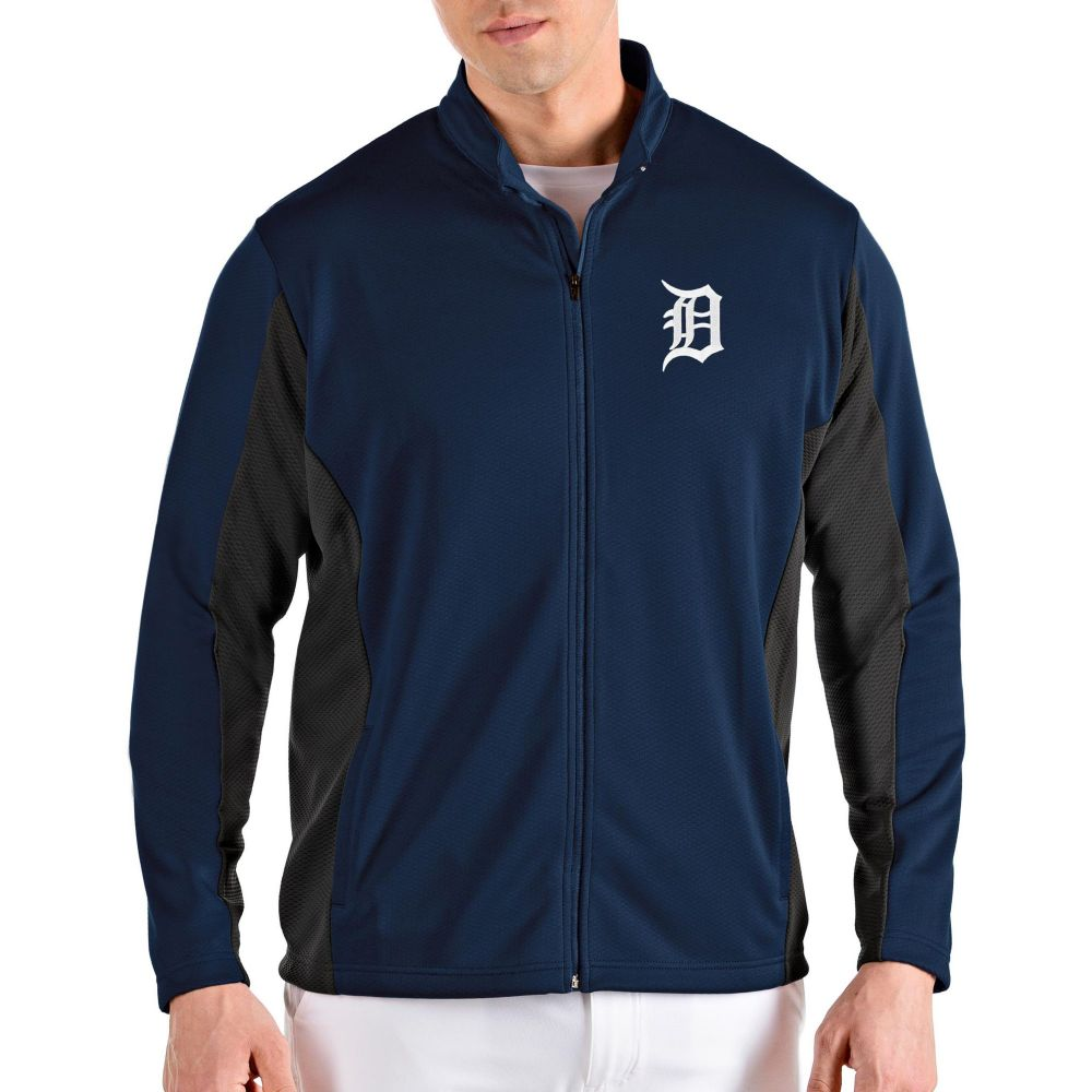 アンティグア Antigua メンズ ジャケット アウター【Detroit Tigers Navy Passage Full-Zip Jacket】