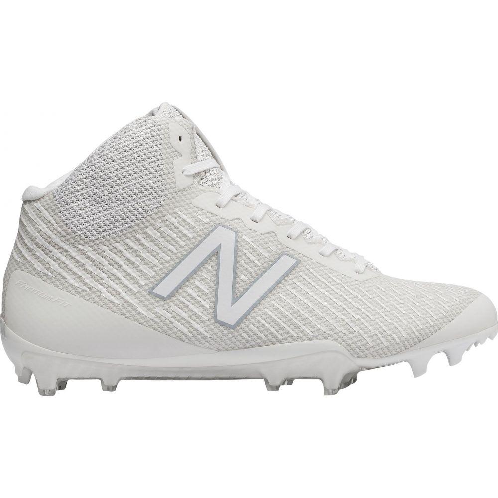 ニューバランス New Balance メンズ ラクロス スパイク シューズ・靴【Burn X Mid Lacrosse Cleats】White/White