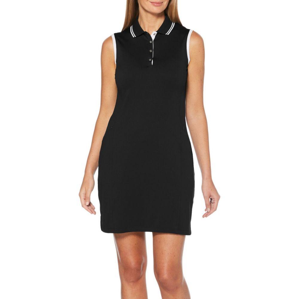 キャロウェイ Callaway レディース ゴルフ ノースリーブ ワンピース トップス【Solid Sleeveless Golf Dress】Caviar