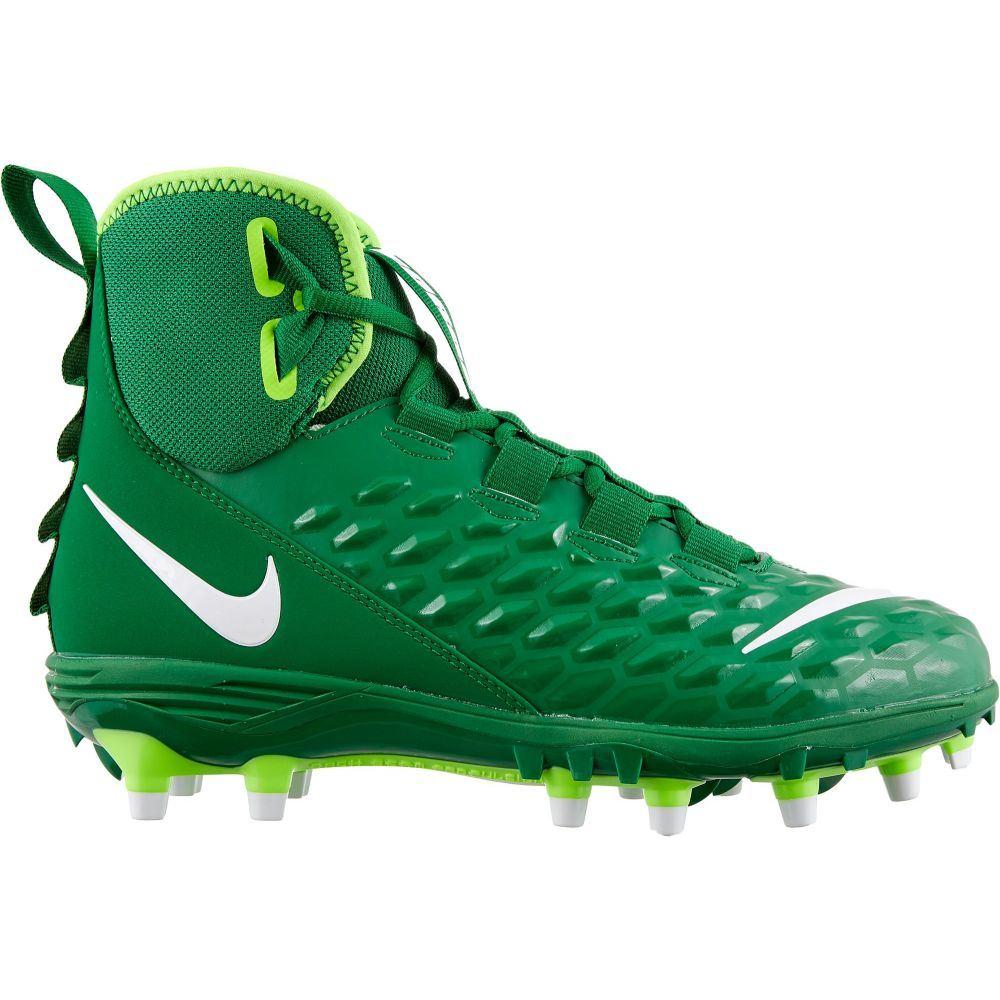 ナイキ Nike メンズ アメリカンフットボール スパイク シューズ・靴【Force Savage Varsity 2 Mid Football Cleats】Green/White