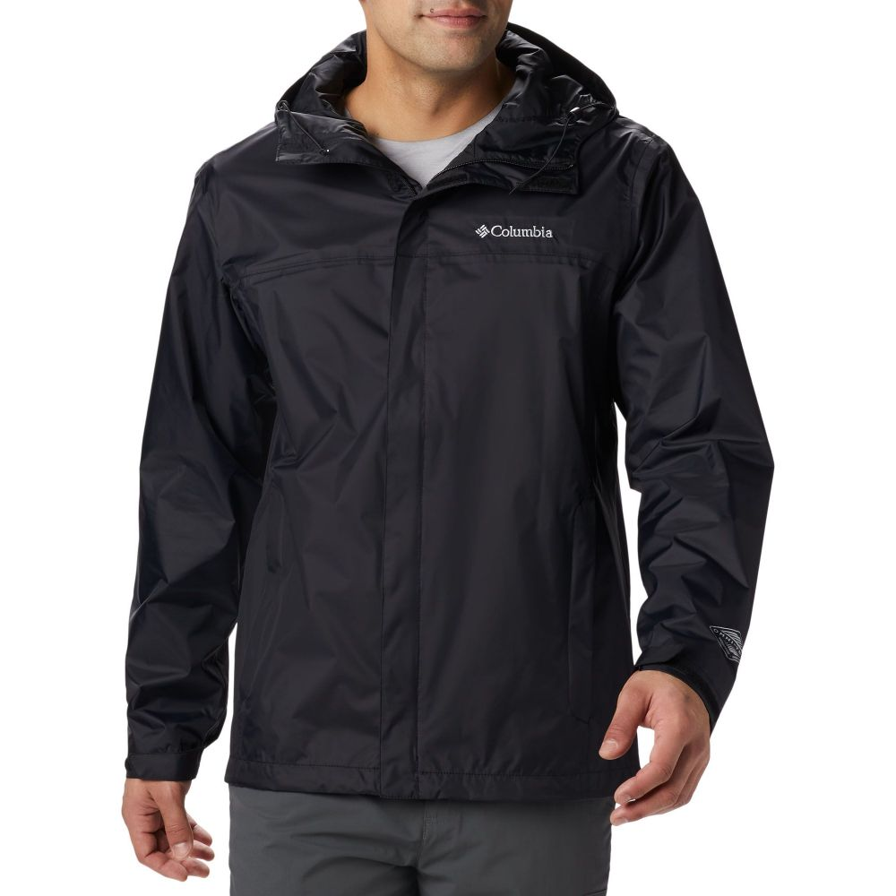 コロンビア Columbia メンズ レインコート アウター【Watertight II Rain Jacket (Regular and Big & Tall)】Black