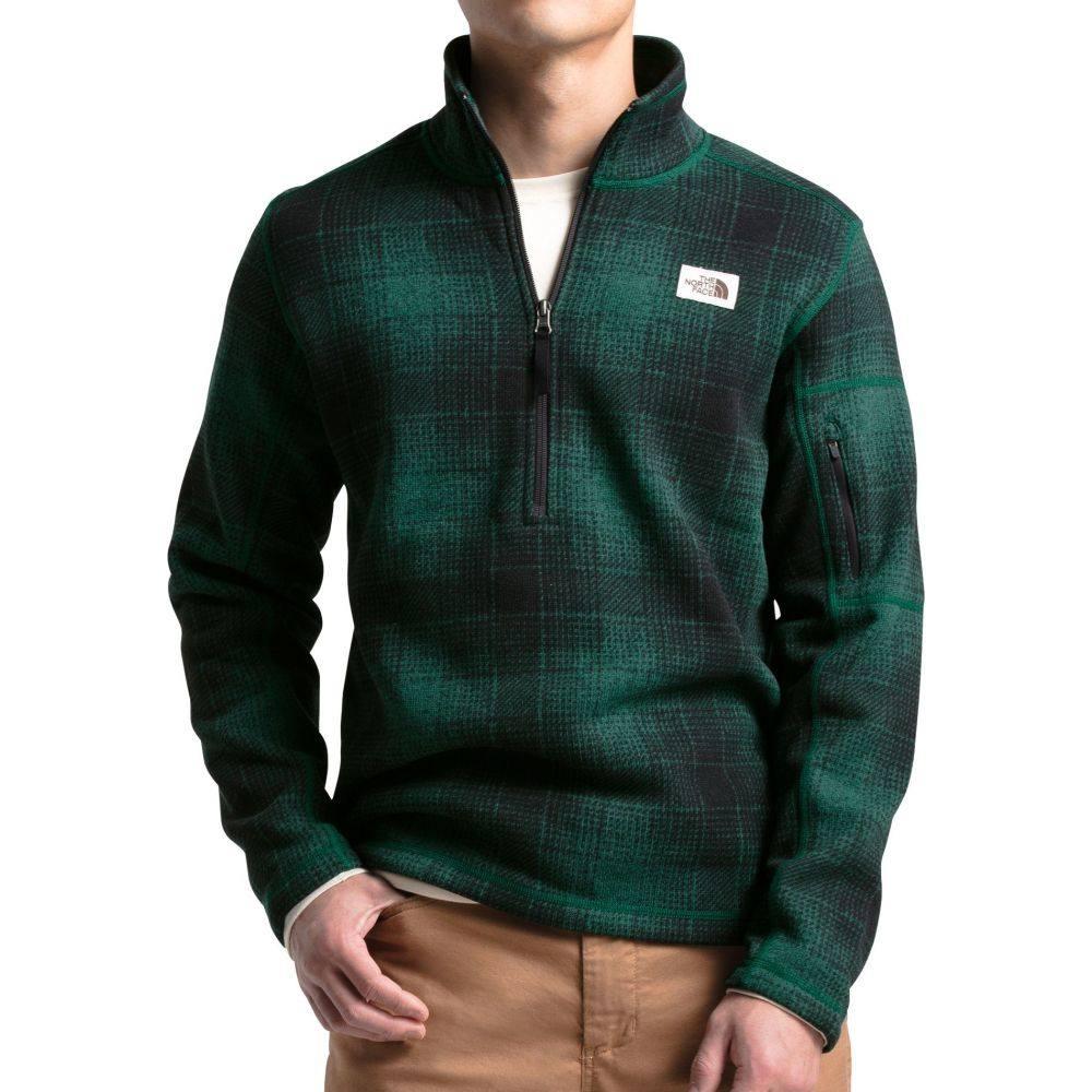 ザ ノースフェイス The North Face メンズ フリース トップス【Gordon Lyons Novelty 1/4 Zip Pullover】Night Green Ombre Plaid