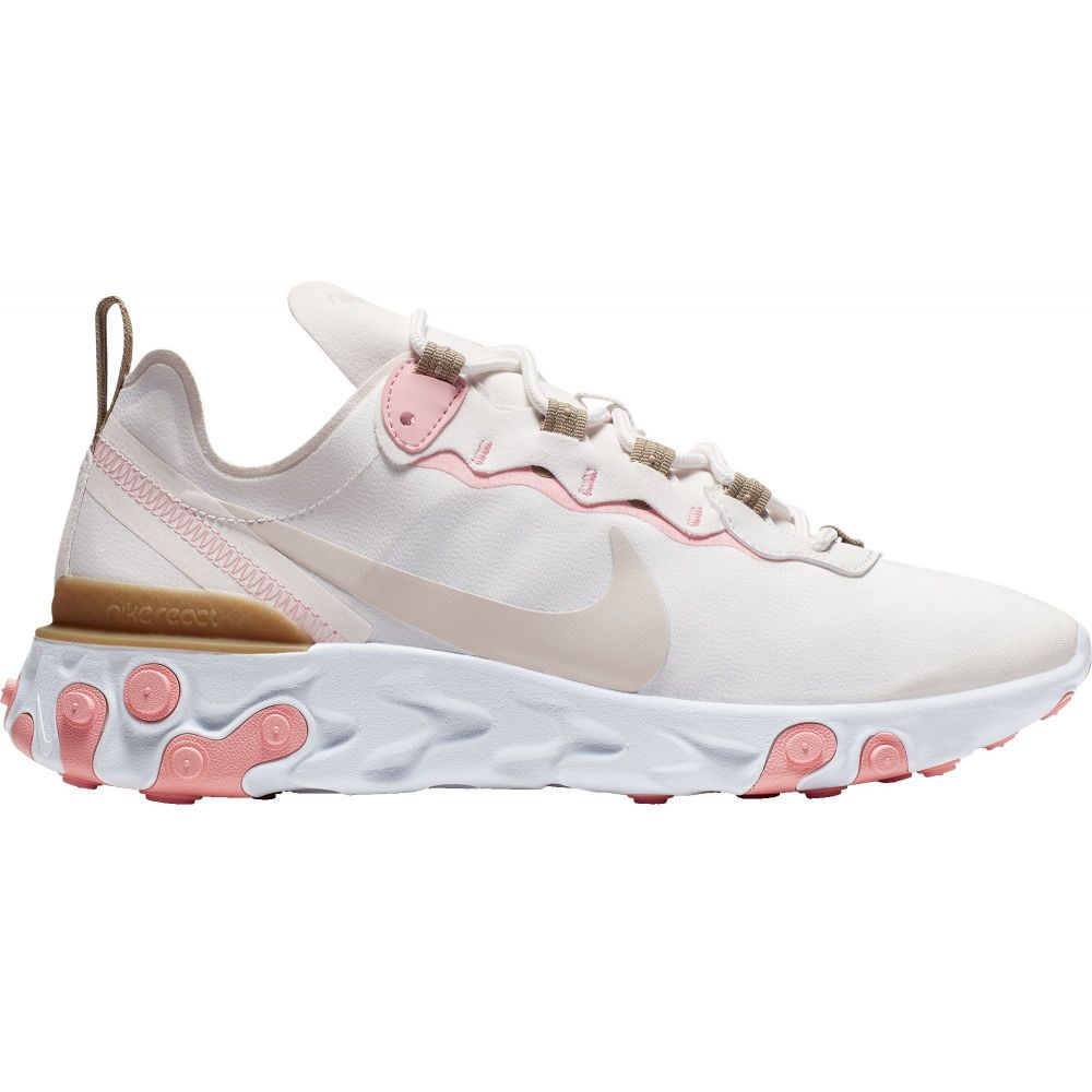 ナイキ Nike レディース スニーカー シューズ・靴【React Element 55 Shoes】Beige/White/Light Pink