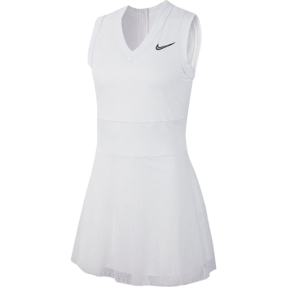 ナイキ レディース テニス トップス 【サイズ交換無料】 ナイキ Nike レディース テニス ワンピース トップス【Court Slam Tennis Dress】White/Black