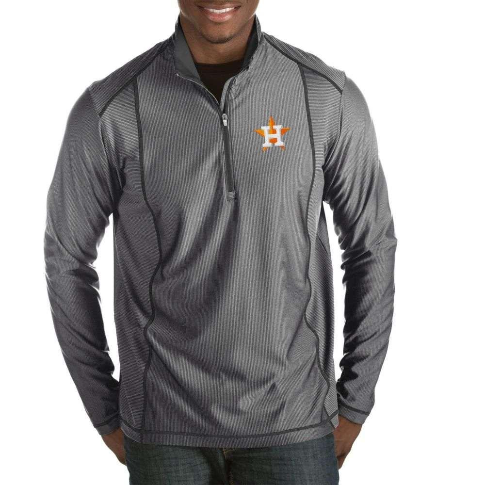 アンティグア Antigua メンズ トップス ハーフジップ【Houston Astros Tempo Grey Quarter-Zip Pullover】