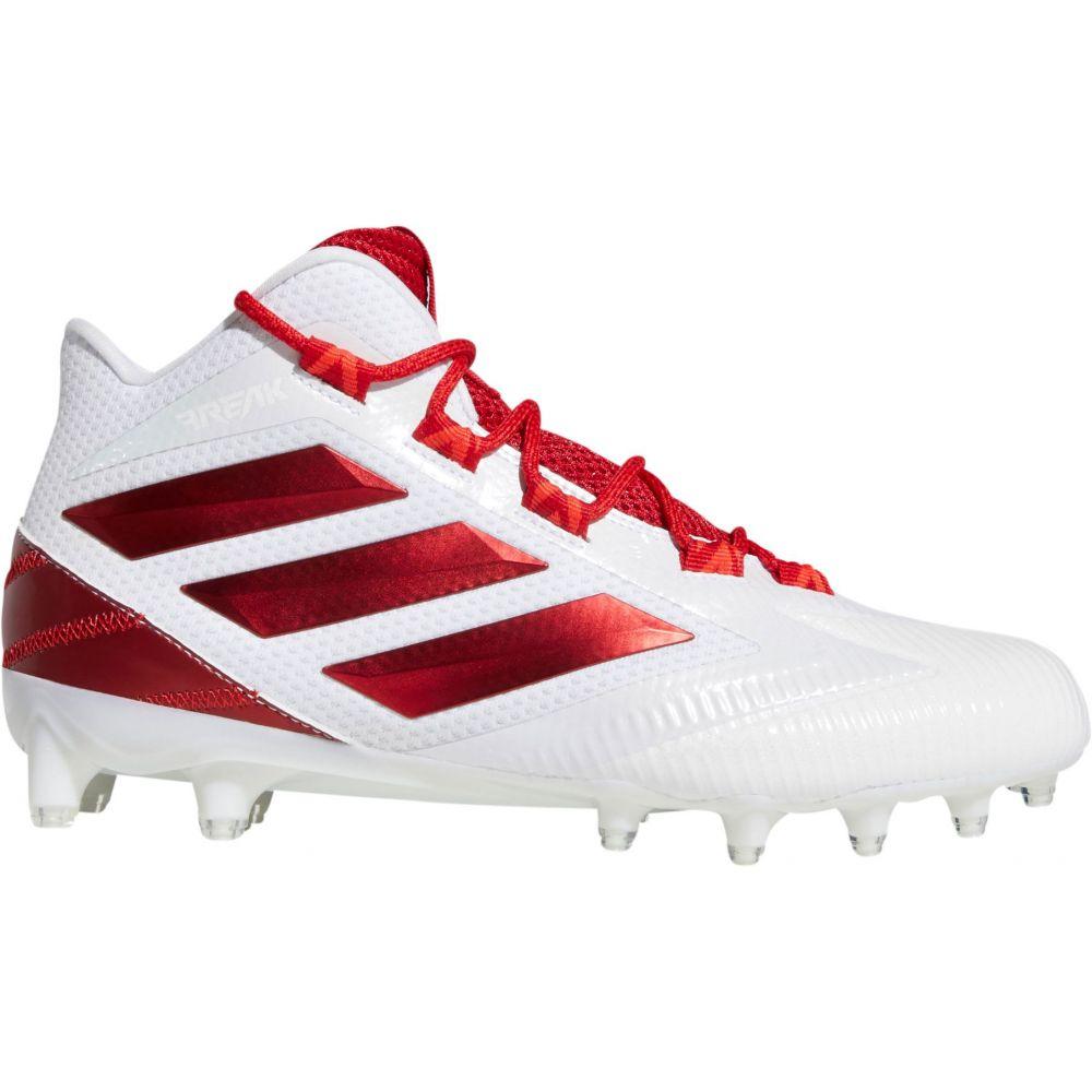 アディダス adidas メンズ アメリカンフットボール スパイク シューズ・靴【Freak Carbon Mid Football Cleats】White/Red