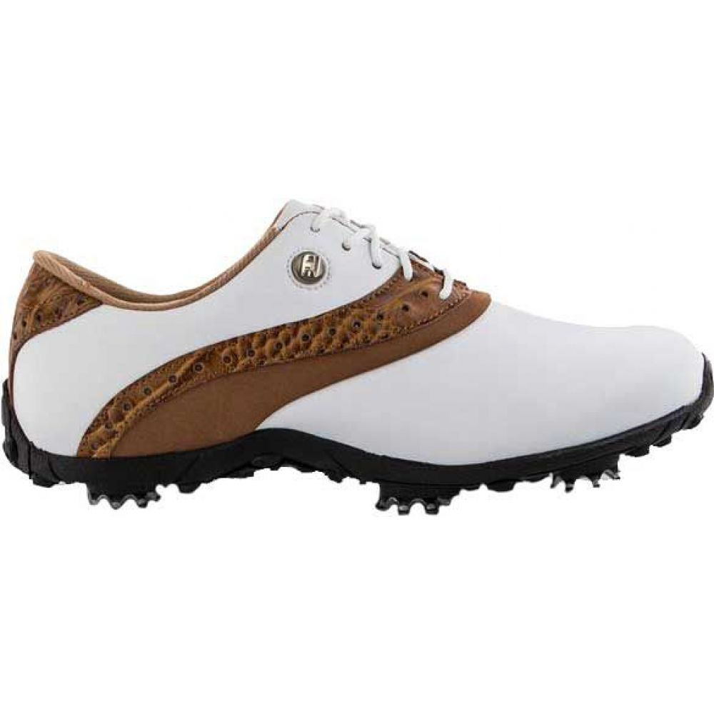 フットジョイ FootJoy レディース ゴルフ シューズ・靴【LoPro Golf Shoes】White/Tan