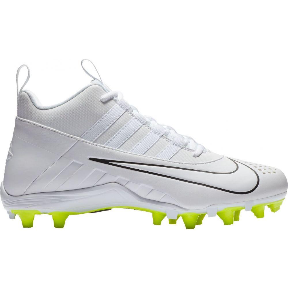 ナイキ Nike メンズ ラクロス スパイク シューズ・靴【Alpha Huarache 6 Varsity Lacrosse Cleats】White/Volt