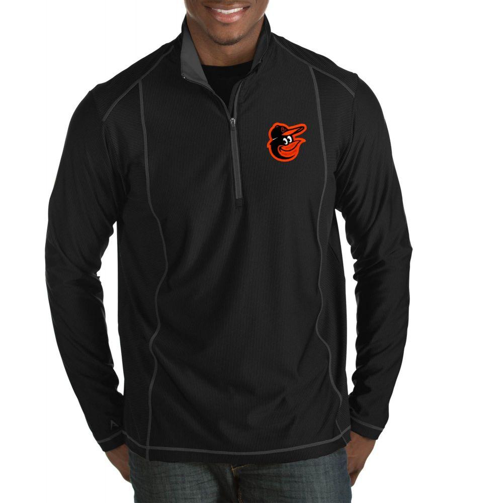 アンティグア Antigua メンズ トップス ハーフジップ【Baltimore Orioles Tempo Black Quarter-Zip Pullover】