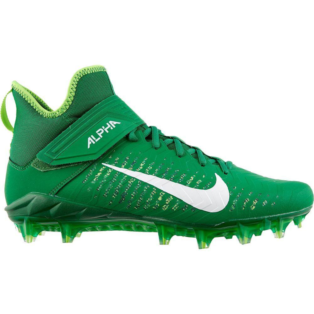 ナイキ Nike メンズ アメリカンフットボール スパイク シューズ・靴【Alpha Menace Pro 2 Mid Football Cleats】Green/White
