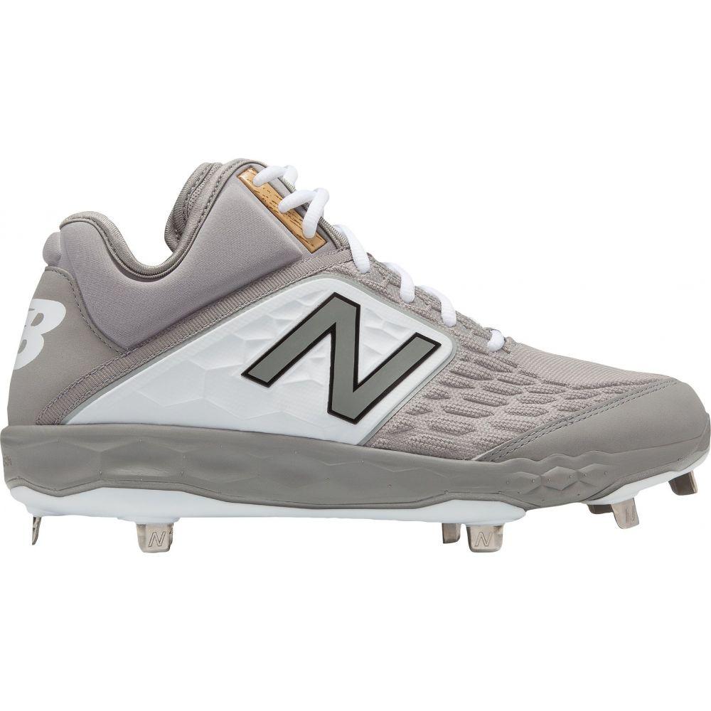 ニューバランス New Balance メンズ 野球 スパイク シューズ・靴【3000 V4 Metal Mid Baseball Cleats】Grey/White
