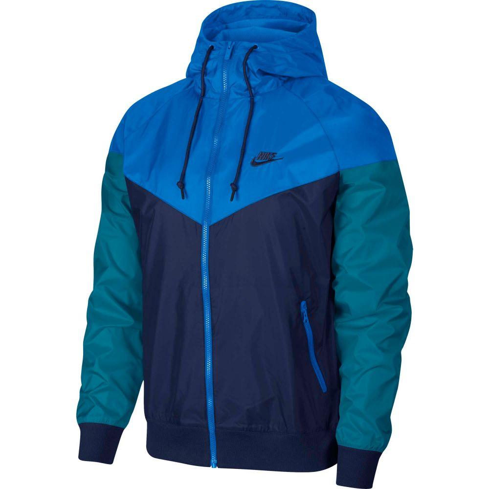 ナイキ Nike メンズ ジャケット フード アウター【Sportswear 2019 Hooded Windrunner Jacket】Midnight Navy/Battle Blue