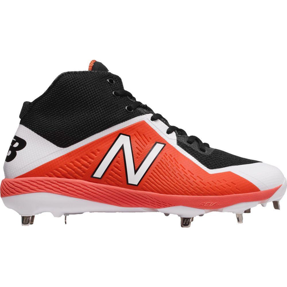 ニューバランス New Balance メンズ 野球 スパイク シューズ・靴【4040 V4 Mid Metal Baseball Cleats】Orange/Black