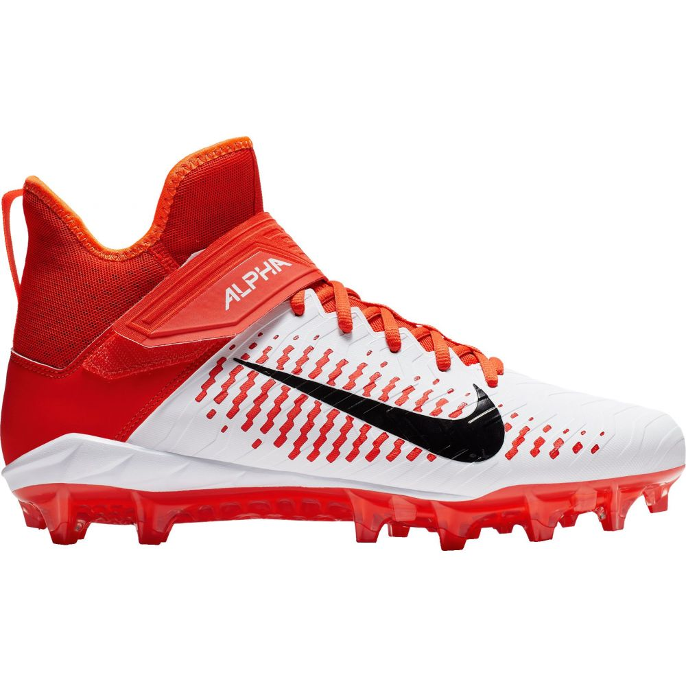 ナイキ Nike メンズ アメリカンフットボール スパイク シューズ・靴【Alpha Menace Pro 2 Mid Football Cleats】White/Orange