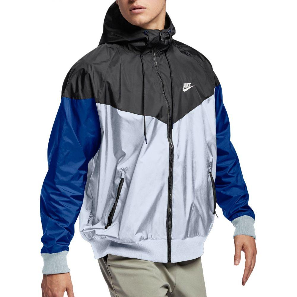 ナイキ Nike メンズ ジャケット フード アウター【Sportswear 2019 Hooded Windrunner Jacket】Obsdn Mst/Blck/Blu Frc/Sl