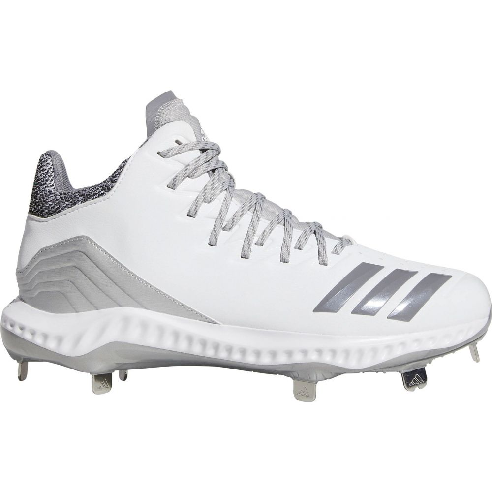 アディダス adidas メンズ 野球 スパイク シューズ・靴【Icon Bounce Mid Metal Baseball Cleats】White/Silver