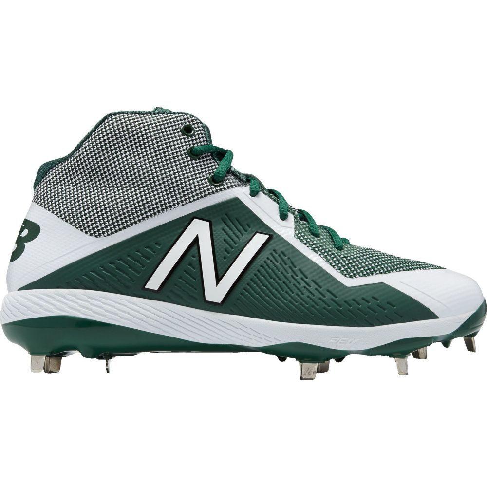 ニューバランス New Balance メンズ 野球 スパイク シューズ・靴【4040 V4 Mid Metal Baseball Cleats】Green/White
