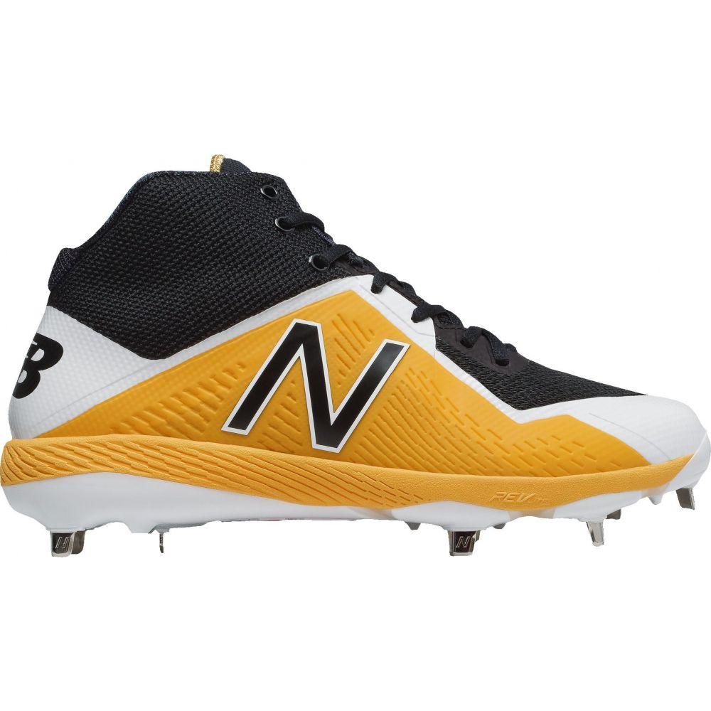 ニューバランス New Balance メンズ 野球 スパイク シューズ・靴【4040 V4 Mid Metal Baseball Cleats】Yellow/Black