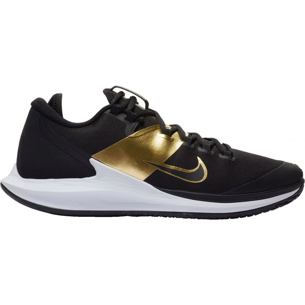 ナイキ メンズ テニス シューズ・靴 【サイズ交換無料】 ナイキ Nike メンズ テニス エアズーム シューズ・靴【Court Air Zoom Zero Tennis Shoes】Black/Gold