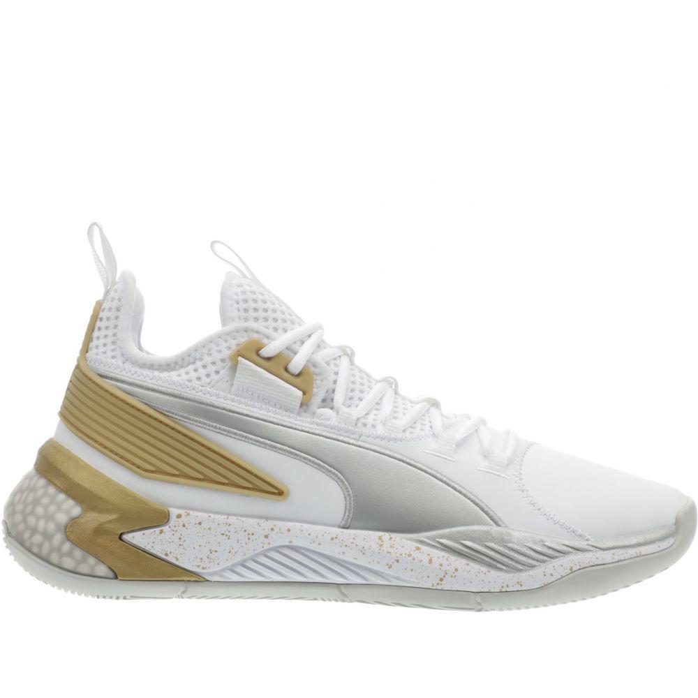 プーマ PUMA メンズ バスケットボール シューズ・靴【Uproar Hybrid Court Basketball Shoes】White/Metallic Silver