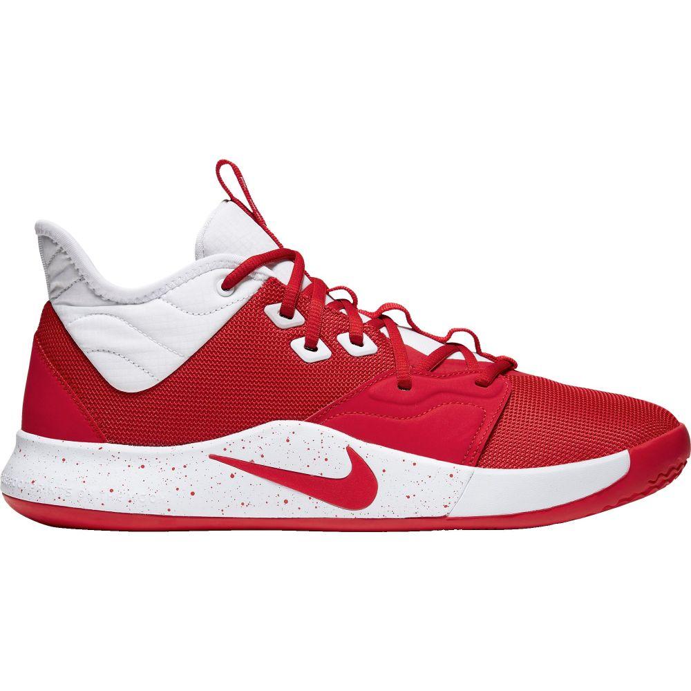 ナイキ Nike メンズ バスケットボール シューズ・靴【PG3 Basketball Shoes】Red/White
