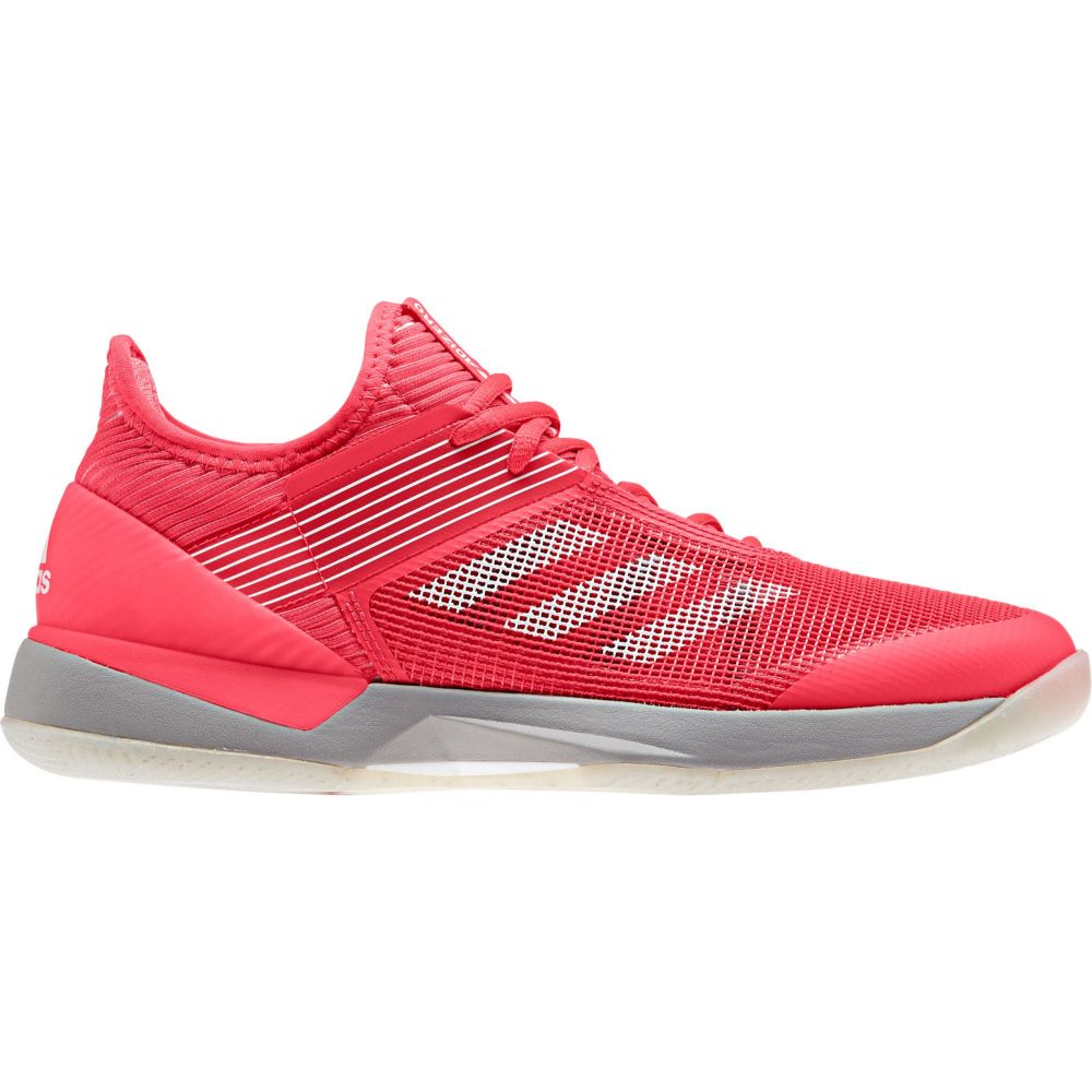 アディダス レディース テニス シューズ・靴 【サイズ交換無料】 アディダス adidas レディース テニス シューズ・靴【Ubersonic 3.0 Tennis Shoes】Red/White/Grey