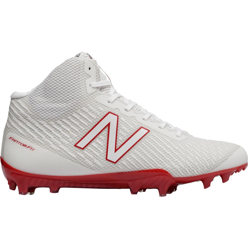ニューバランス New Balance メンズ ラクロス スパイク シューズ・靴【Burn X Mid Lacrosse Cleats】White/Red