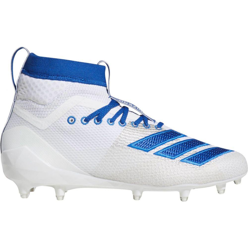 アディダス adidas メンズ アメリカンフットボール スパイク シューズ・靴【adizero 8.0 Burner SK Football Cleats】White/Royal